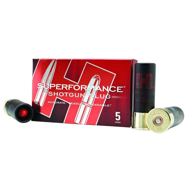 HORNADY Superformance 12 Gauge 2.75in Sabot Slug Ammo, 5 Round Box (86236)
