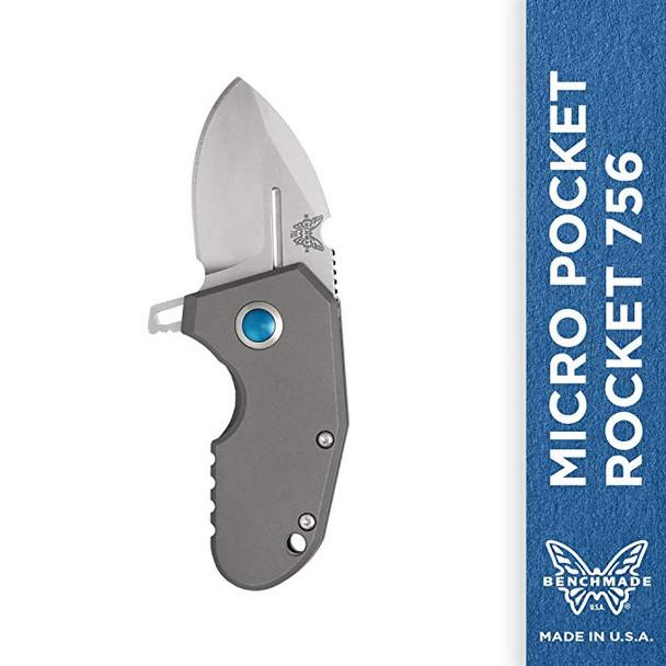 BENCHMADE Shane Sibert Micro Pocket Rocket Flipper Knife (756)
