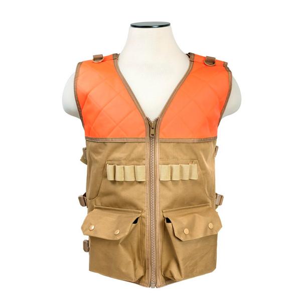 NCSTAR Vism Blaze Orange/Tan Hunting Vest (CHV2942TO)