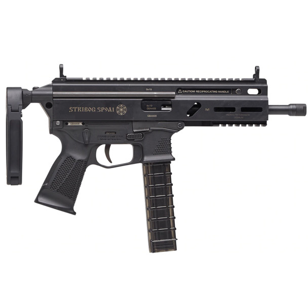 GRAND POWER Stribog SP9 A1 9mm 8in 3x30rd With Tailhook PDW Brace Long Pistol (SP9A1-PDW)