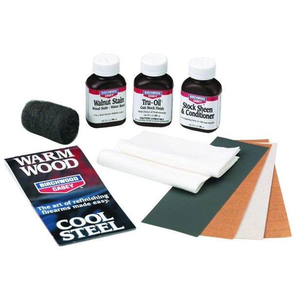 Birchwood Casey Tru-Oil Maintenance Kit Stock Finish Clam Pack 23801