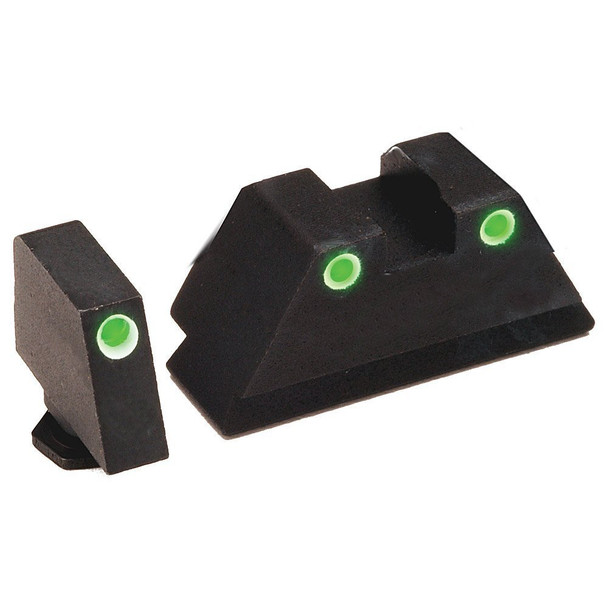 AMERIGLO Tall Suppressor Style 3 Dot Green Front/Rear Night Sight Set (GL-329)