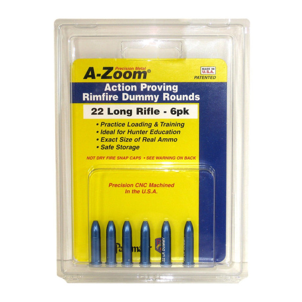A-ZOOM Precision Metal 6-Pack of 22 LR Snap Caps (12208)