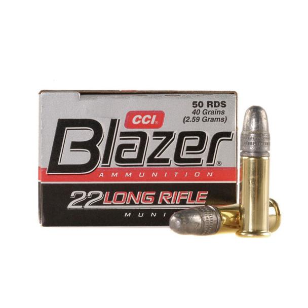 CCI Blazer 22 LR 40 Grain Lead Round Nose Ammo, 50 Round Box (21)
