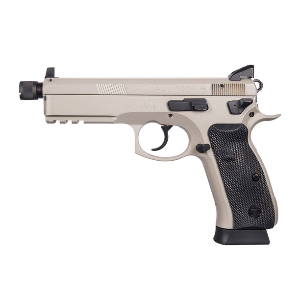 CZ Urban Gray 75 SP-01 9mm Suppressor Ready Tactical Pistol (91253)