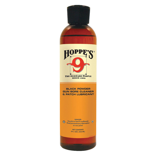 HOPPE'S No. 9 8oz Bottle Black Powder Bore Cleaner and Lubricant (999)