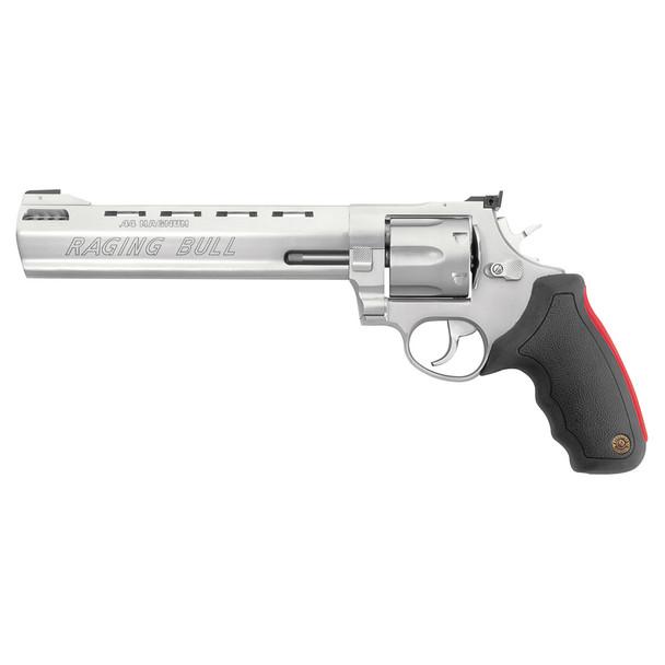 TAURUS M444 Raging Bull Large 44 Magnum 8.375in 6rd Stainless Revolver (2-444089)