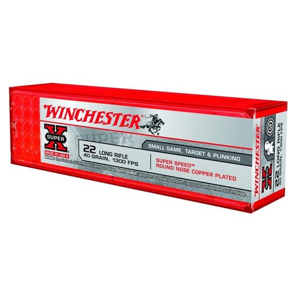 WINCHESTER Super Speed Super-X 40gr Plated Round Nose 100rd 22 LR Ammunition (X22LRSS1)