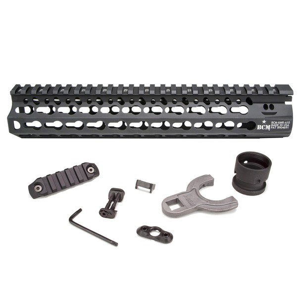 BRAVO COMPANY BCM KMR Alpha 10in KeyMod Free Float Handguard (BCM-KMR-A10-556-BLK)