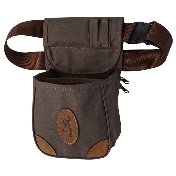 BROWNING Lona Canvas/Leather Shell Flint Pouch (121388692)