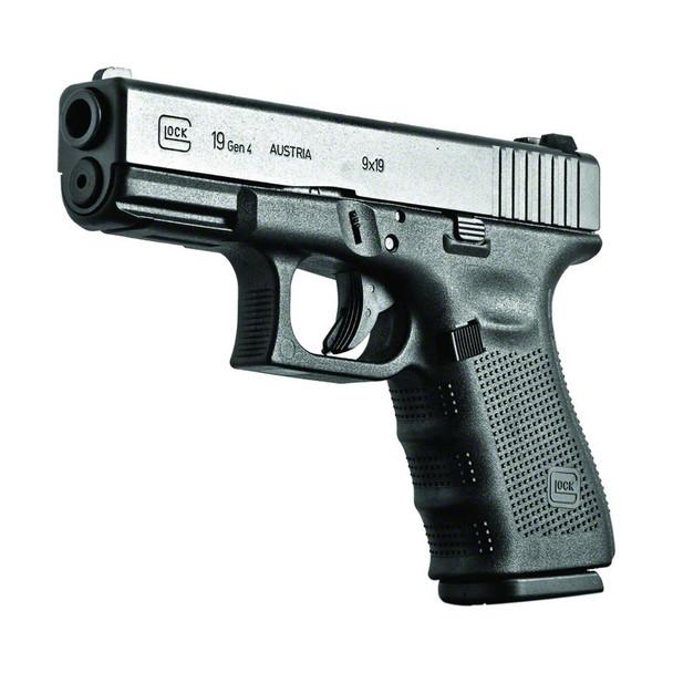 GLOCK 19 GEN4 Semi-Automatic 9mm Compact Pistol (PG1950203)
