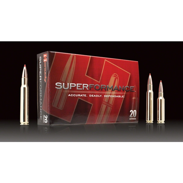 HORNADY Superformance 308 Win. 165 Grain GMX Ammo, 20 Round Box (8099)