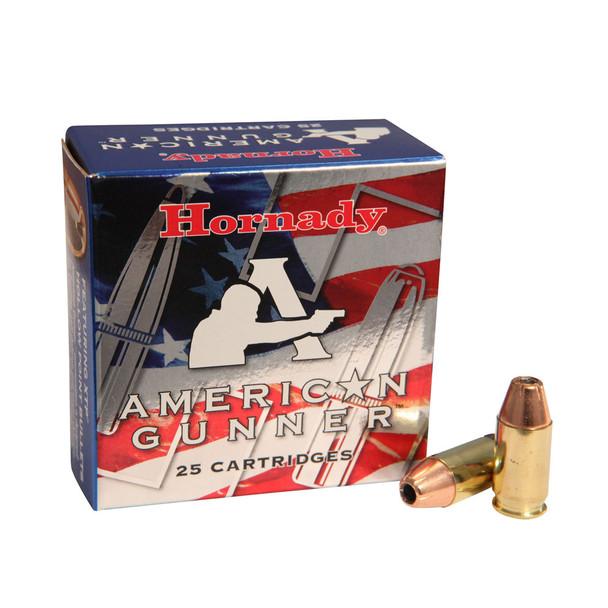HORNADY American Gunner 380 ACP 90 Grain XTP Ammo, 25 Round Box (90104)