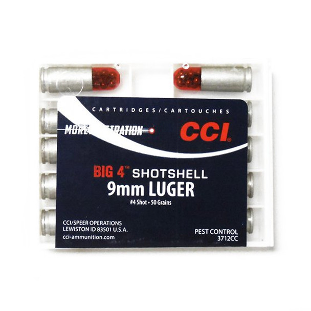CCI/Speer Big 4 9mm 45Gr #4 Shot Size 10Rd Centerfire Pistol Shotshell Ammo (3712CC)