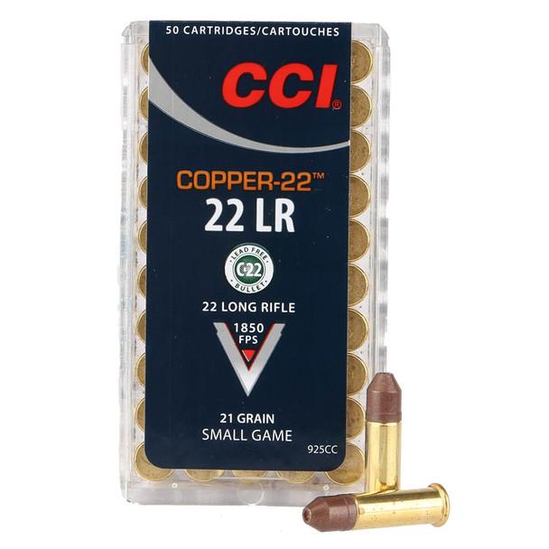 CCI Copper-22 22 LR 21 Gr Bullet 50rd Box Ammo (925CC)