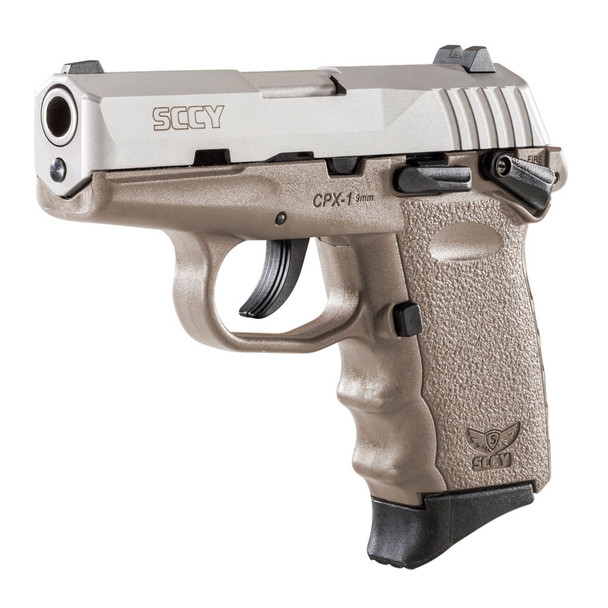 SCCY CPX-1 9mm 3.1in 10rd Stainless/Flat Dark Earth Semi-Automatic Pistol (TTDE)