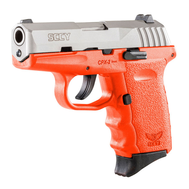 SCCY CPX-2 9mm 3.1in 10rd Stainless Steel/Orange Semi-Automatic Pistol (CPX-2-TTOR)