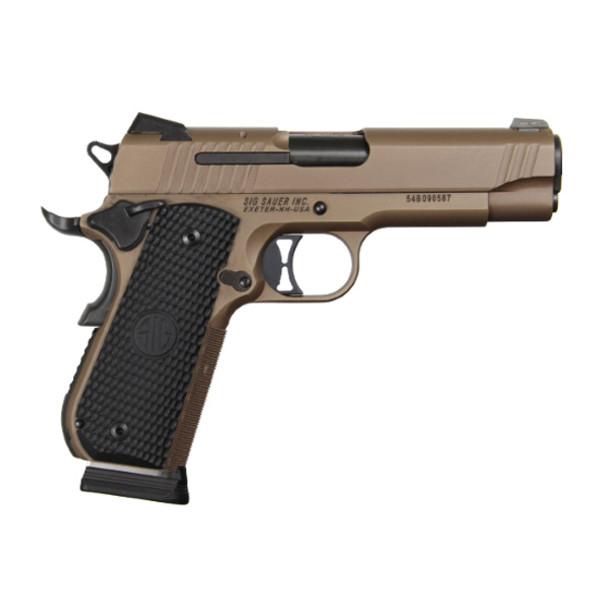 SIG SAUER 1911 Flat Dark Earth Emperor Scorpion 4.2in 45 ACP 8rd Pistol (1911FTCA-45-ESCPN)