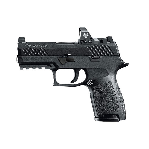 SIG SAUER P320 Compact 9mm 3.9in 10rd Semi-Automatic Pistol with Romeo1 Reflex Sight (320C-9-BSS-RX-10)