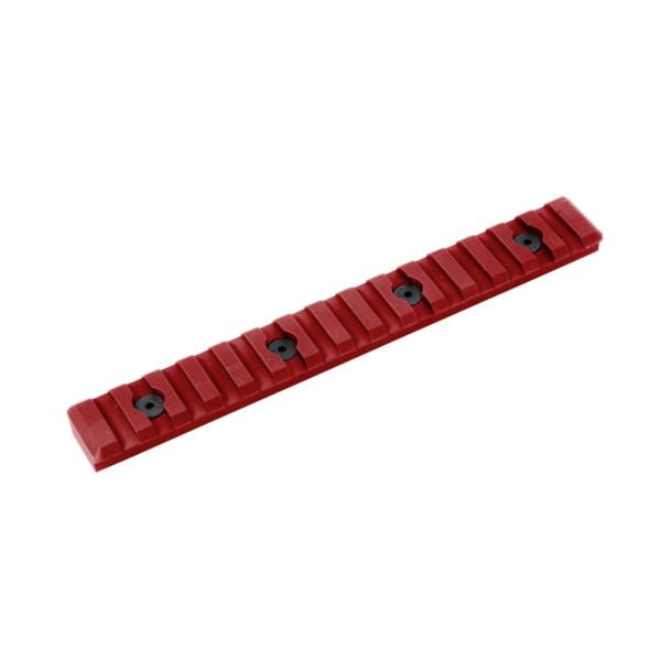TIMBER CREEK OUTDOORS 15 Slot Picatinny M-Lok Red Rail (M-15S-PR-R)