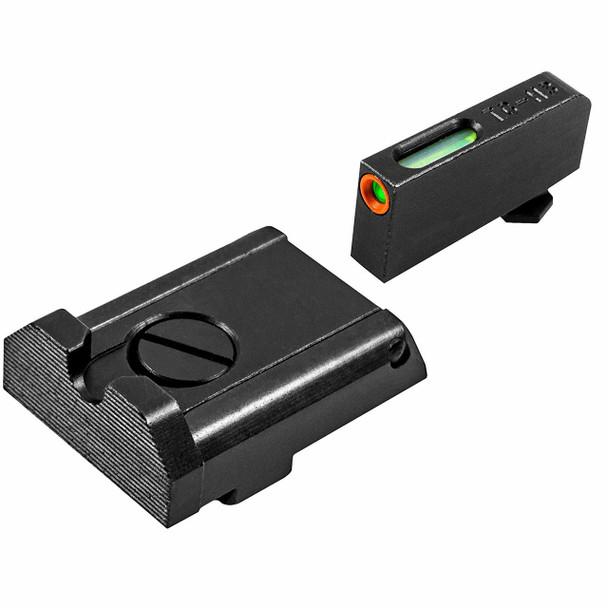 TRUGLO TFX Pro Glock Adjustable Pro Orn Tritium/Fiber Optic Day/Night Sight Set (TG13GLAPC)