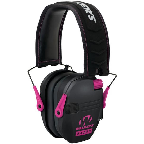 WALKERS GAME EAR Razor Series Slim Shooter Electronic Pink Folding Muff (GWP-RSEM-PNK)