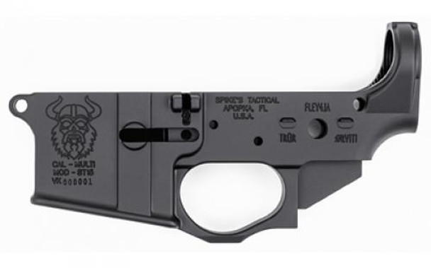 SPIKE'S TACTICAL STLS031 Viking, Stripped Lower, Semi-automatic, 223 Rem/556NATO, Black, Non-Color (STLS031)