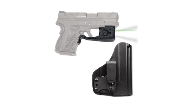 CRIMSON TRACE Green Laserguard Pro with Blade-Tech IWB Holster for Springfield Armory XD-S (LL-802G-HBT)