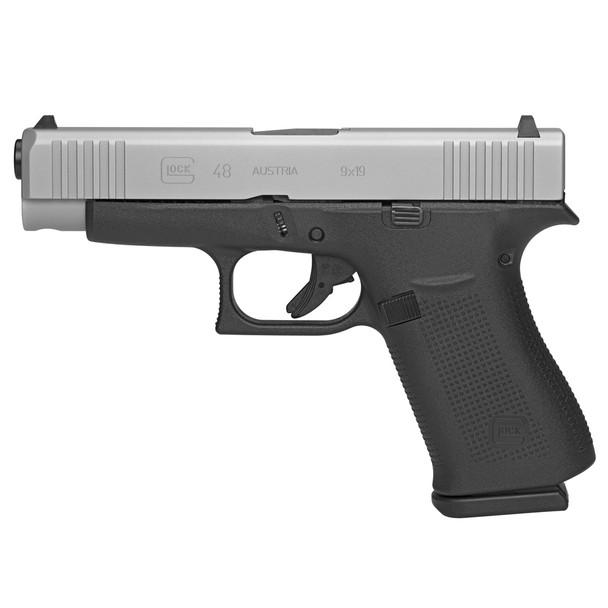 GLOCK G48 9mm 4.17in 2x10rd Silver Slide Pistol (PA485SL201)
