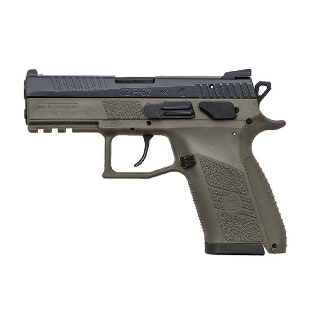 CZ P-07 9mm 3.75in 15rd OD Green Semi-Automatic Pistol (91077)