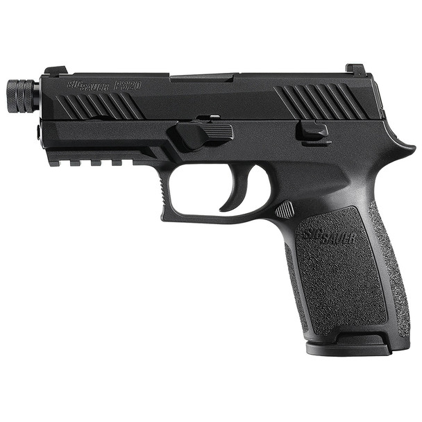 SIG SAUER P320 Black Nitron 4.6in Threaded 9mm 15rd Pistol (320C-9-BSS-TB)