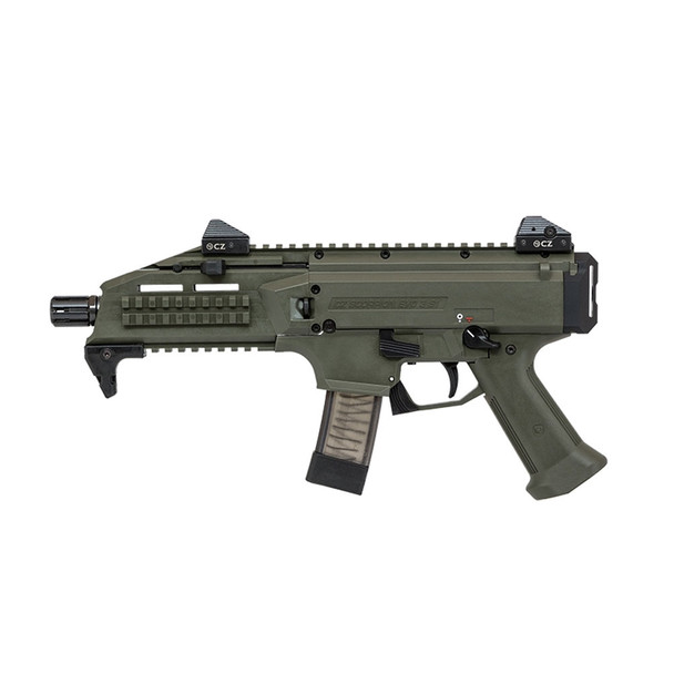 CZ Scorpion EVO 3 S1 9mm 7.72in 20rd OD Green Semi-Automatic Pistol (91355)