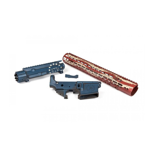 AERO PRECISION M4E1 1776 Red White & Blue Builder Set with 15in Keymod Handguard (APCS100105)