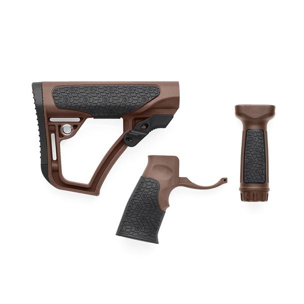 DANIEL DEFENSE Brown Buttstock/Pistol Grip/Vertical Foregrip Combo (28-102-06145-011)