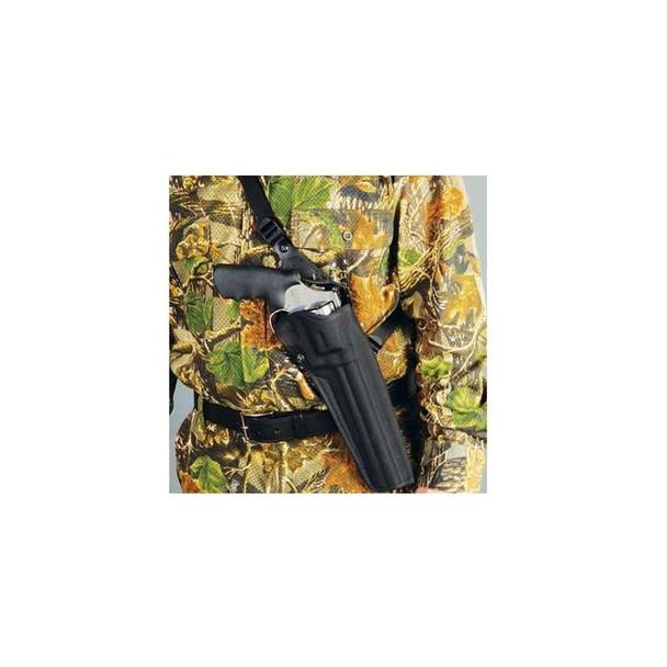 DESANTIS Black Mamba S&W 500 8.5in RH Black Chest Holster (GM40BA05Z0)