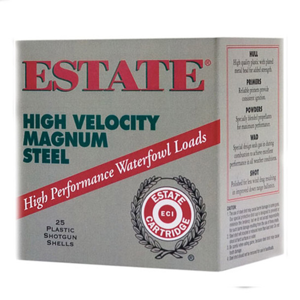 ESTATE Field & Range 20 Gauge 2.75in #7.5 Lead Ammo, 25 Round Box (HV20-75)