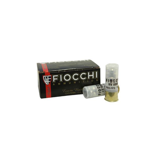 FIOCCHI Low Recoil 12 Gauge 2.75in 00 Buckshot Ammo, 10 Round Box (12LE00BK)