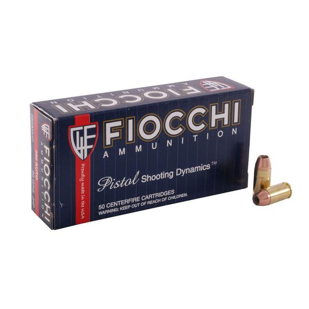 FIOCCHI 380 ACP 90 Grain JHP Ammo, 50 Round Box (380APHP)