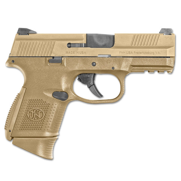 FN FNS-9C NMS 12/17Rd FDE Pistol (67993)