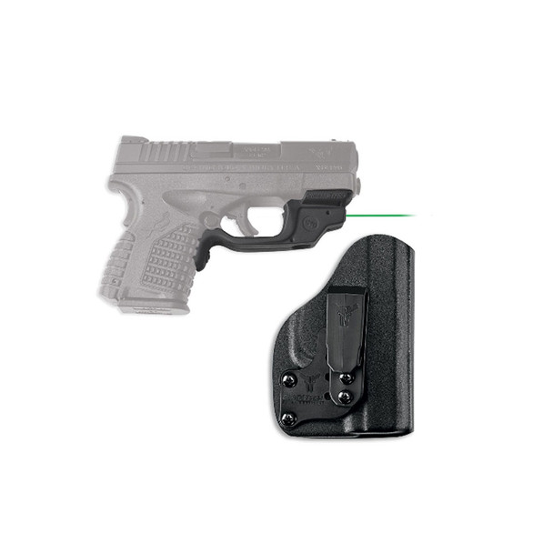 CRIMSON TRACE Springfield Armory XD-S Green Laserguard with Blade Tech IWB Holster (LG-469G-HBT)