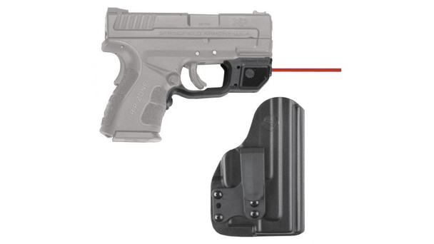 CRIMSON TRACE Red Laserguard with Blade-Tech IWB Holster for Springfield Armory XD MOD2 (LG-496-HBT)