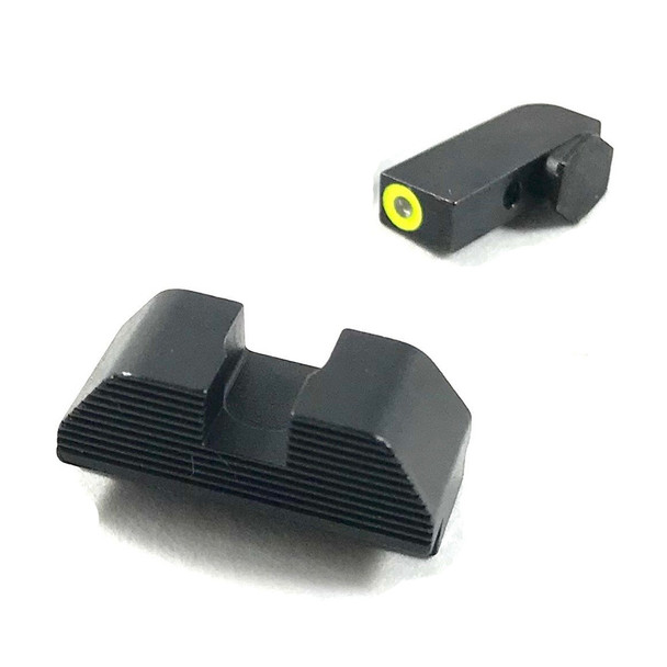 SHADOW SYSTEMS Fighting Black Rear/Green Outline Tritium Front Sights (SGK-1020-TG)