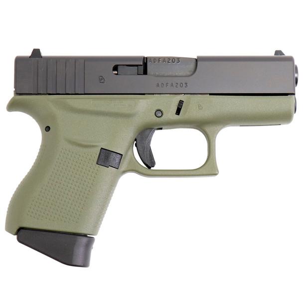 GLOCK Model 43 9mm 3.39in Barrel 6Rd Battlefield Green Pistol (UI4350201BFG)