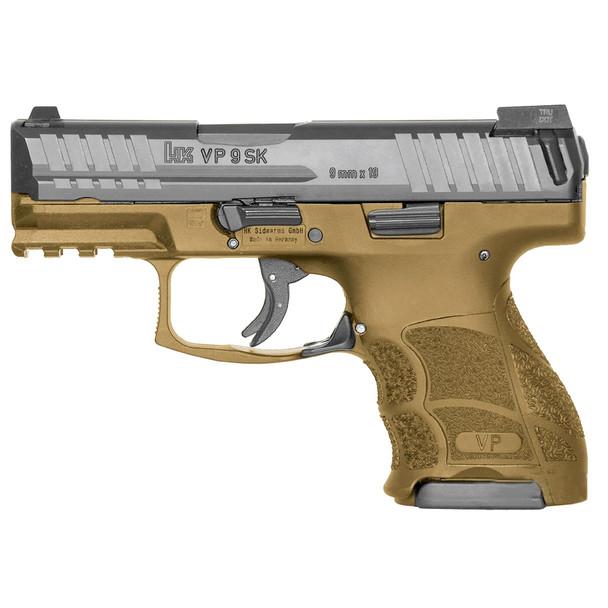 H&K VP9SK 9mm 3.39in Barrel 3x 10 Rd Mag Night Sights FDE Pistol (81000096)
