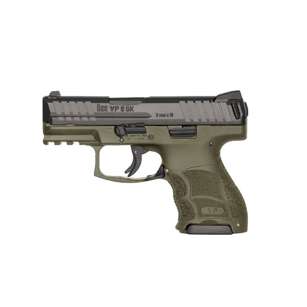 HK VP9SK Subcompact 9mm 3.39in 10rd OD Green Semi-Automatic Pistol (81000097)