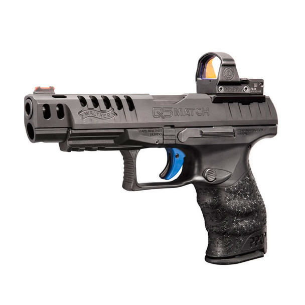 WALTHER PPQ Q5 Match 9mm 5in 3x 15rd Semi-Automatic Pistol with Fiber Optic  Front Sight (2813335)