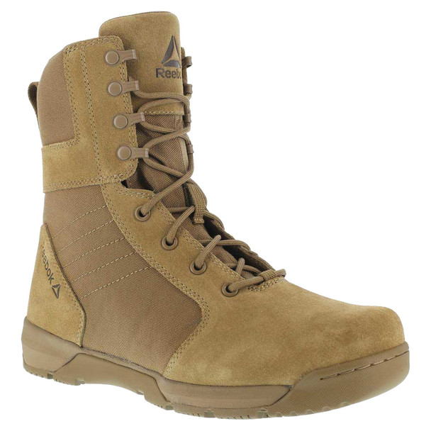 REEBOK Mens Strikepoint 8in Coyote Tactical Boots (RB8840)