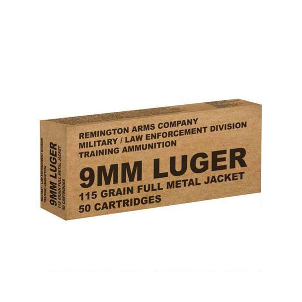 REMINGTON 9mm 115 Grain FMJ 50Rd Box Ammo (B9MM3)