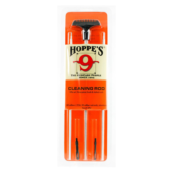 HOPPE'S 3 Piece Aluminum Universal Caliber Cleaning Rod (3PU)