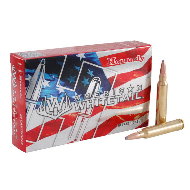 HORNADY American Whitetail 300 Win. Mag 180Gr InterLock SP 20Rd Box Ammo (82044)